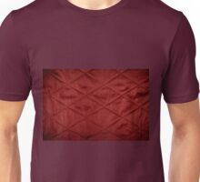 Red quilted material texture abstract Unisex T-Shirt