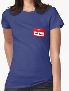 Not Sure... Womens Fitted T-Shirt