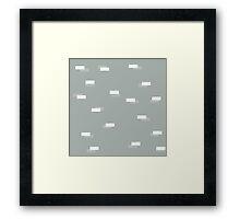 Geometric blocks seamless pattern Framed Print