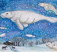 Flight of the manatees by pizzawolf1981