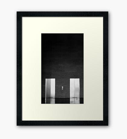 Elevator Doors Framed Print