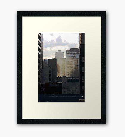 Layered City Framed Print