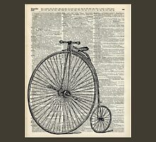 Vintage Penny Farthing bicycle,monocycle dictionary art T-Shirt