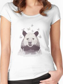 Let's Bear Friends Women's Fitted Scoop T-Shirt