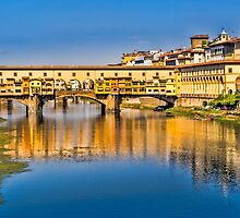 Ponte Vecchio Reflections by David Bradbury