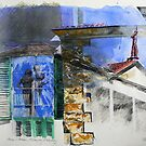 Arezzo - Italian Memory Drawing by Richard Sunderland