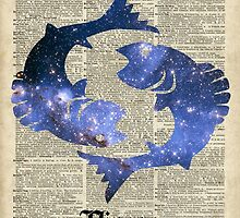 Pisces  The Fish  Zodiac Sign by DictionaryArt