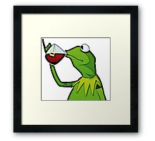 Kermit the Thug Framed Print
