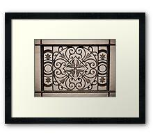 ornamental railings of the bridge of wrought iron Framed Print
