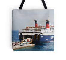 Express Pegasus disembarking, Alonissos Tote Bag