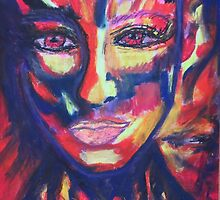 in Flammen - in flames MW Art Marion Waschk by Marion Waschk