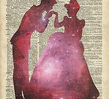 Prince and Princess Valentine Fairytale Space Stencil by DictionaryArt