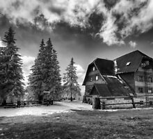 Mountain Hostel Rysianka - Beskid mountains, Poland by Bartosz Chajek