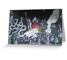 Black and white street art Greeting Card