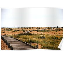 Coastal path to Dungeness Poster