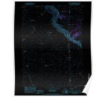 USGS Topo Map Oregon Beaver Charlie Breaks 278971 1982 24000 Inverted Poster