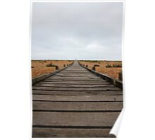Never ending path at Dungeness Poster