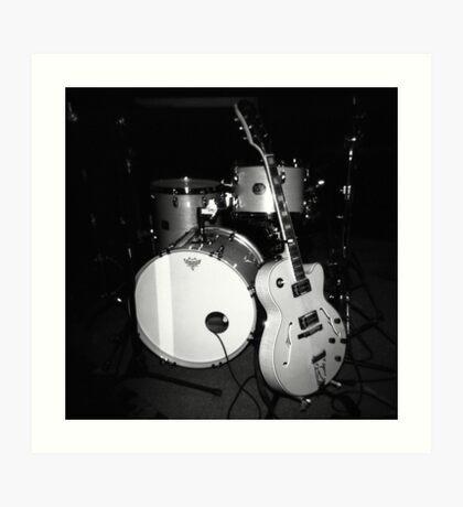 JP Soars' Guitar & Drum Kit Art Print