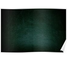 Dark green leather texture abstract  Poster