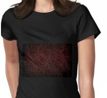 Dark creased leather texture abstract Womens Fitted T-Shirt