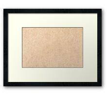 Ecru pattern wrinkled parchment Framed Print