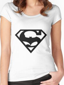 Bat v Super Mans Women's Fitted Scoop T-Shirt