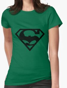 Bat v Super Mans Womens Fitted T-Shirt