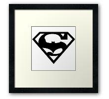 Bat v Super Mans Framed Print