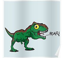 Tiny Cute Baby Trex Poster