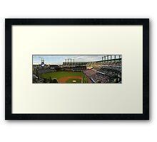 Night at a Rockies Baseball Game Framed Print