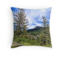 Hall Peak (Bob Marshall Wilderness, Montana, USA) Throw Pillow