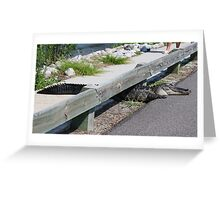 Be Wary - Gator Crossing Greeting Card