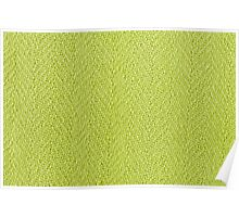 Bright green knitted fabric cloth texture Poster