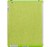 Bright green knitted fabric cloth texture iPad Case/Skin
