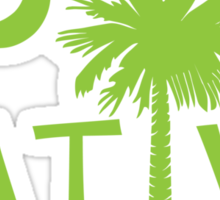 Lime Green South Carolina Palmetto Moon Native Sticker