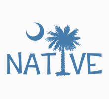 Light Blue South Carolina Palmetto Moon Native by PalmettoTrading