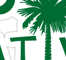 Green South Carolina Palmetto Moon Native Sticker