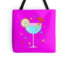 Pretty cocktail on bright pink Tote Bag