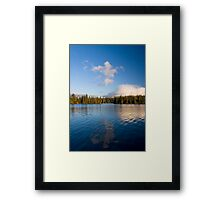 Moonrise on Mothlake Framed Print