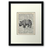Fantasy steampunk Rhinoceros Framed Print