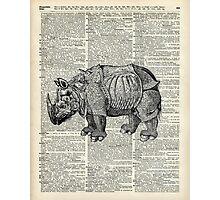 Fantasy steampunk Rhinoceros Photographic Print