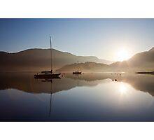 Glencoe, Scotland..with morning flare Photographic Print