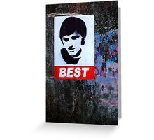 George Best Portraiture  Greeting Card