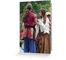Renaissance  Dance Greeting Card