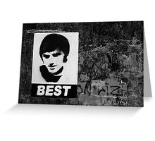 George Best Mono Greeting Card