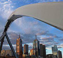 Melbourne city skyline from the Yarra by Mitchey