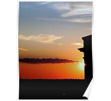 Setting sun over Milwaukee © Poster