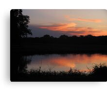 Sunset reflection In The Water Canvas Print