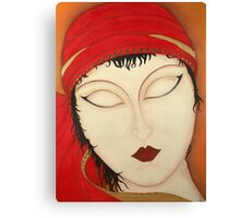 Fortuna Beautiful Mysterious Gypsy Woman Painting Canvas Print