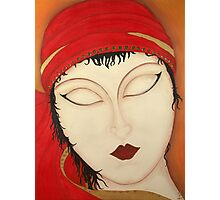 Fortuna Beautiful Mysterious Gypsy Woman Painting Photographic Print
